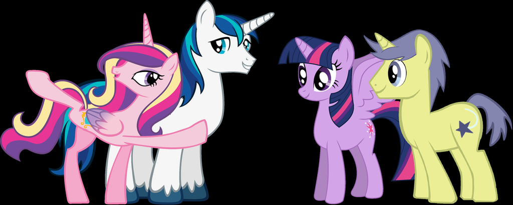 Mlp Fim Comet Tail Meets The Royal Family By 3d4d On