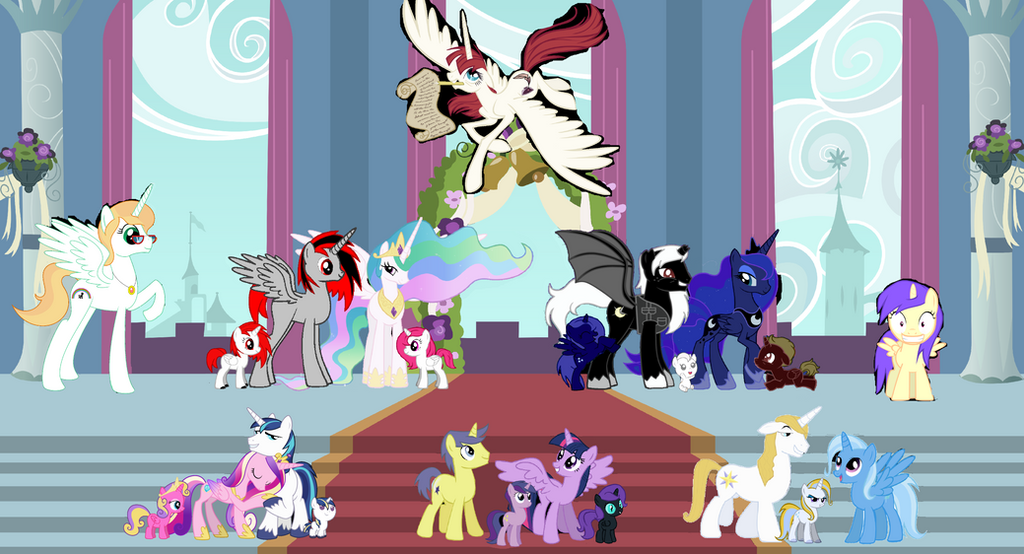 My Little Pony Characters Coloring Pages : My little royal family extended by 3d4d on deviantart