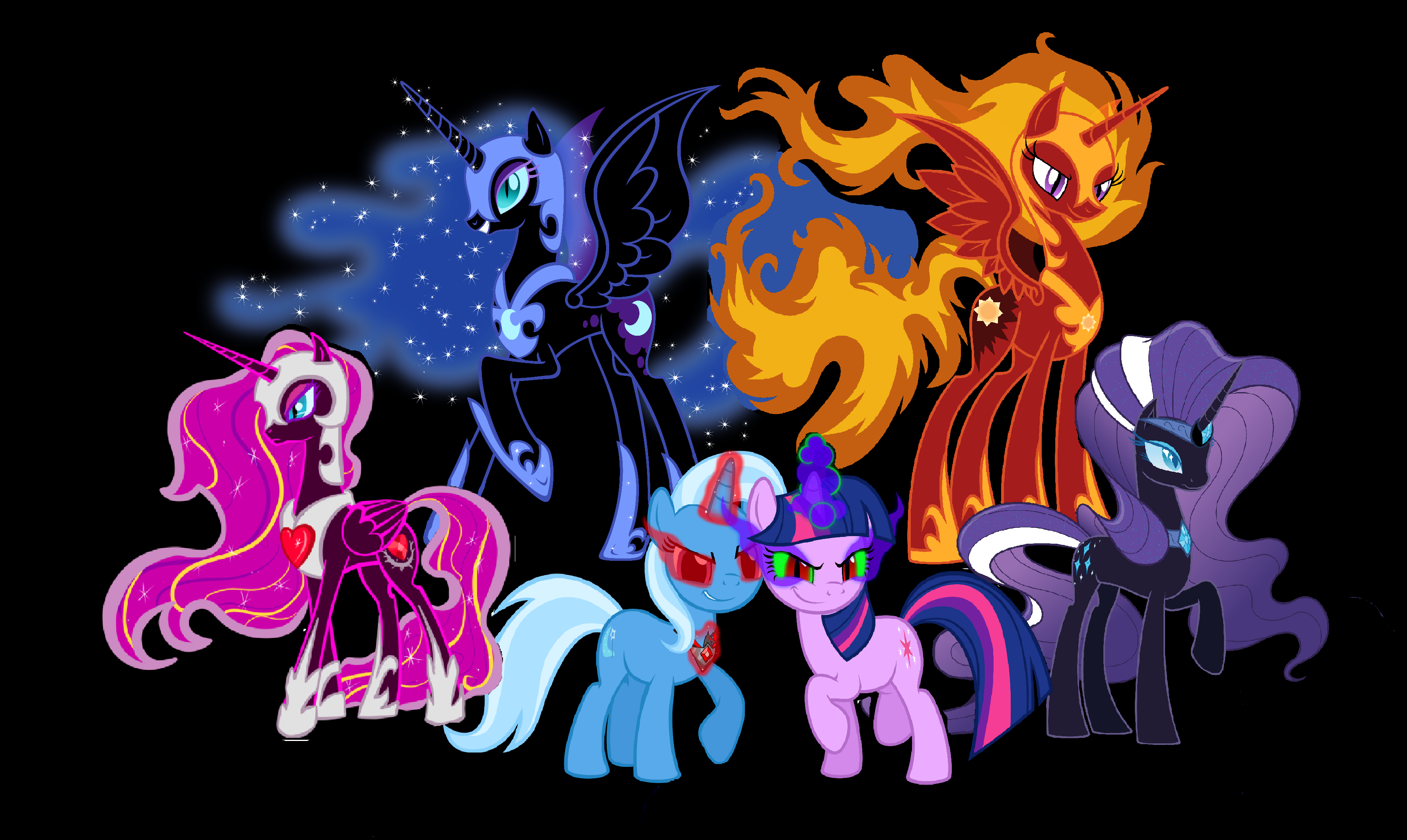 evil mlp coloring pages - photo#28