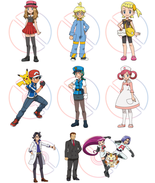 Anime Characters As Pokemon : Pokemon anime characters images
