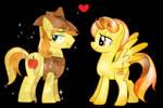 Braeburn and Spitfire as Crystal Ponies