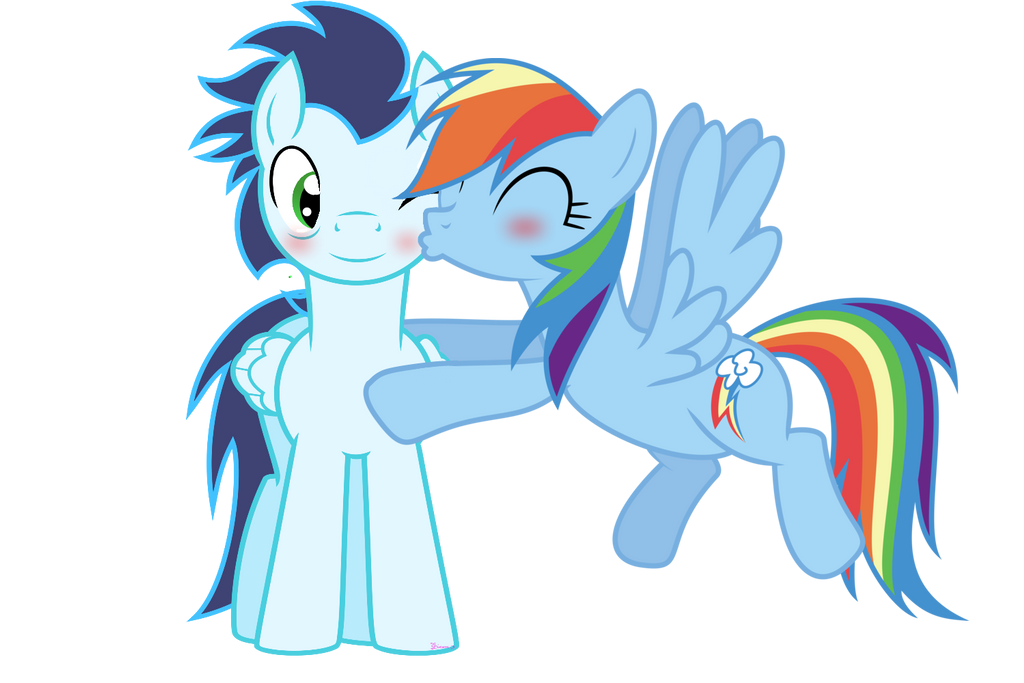 Rainbow Dash kissing Soarin by 3D4D on DeviantArt