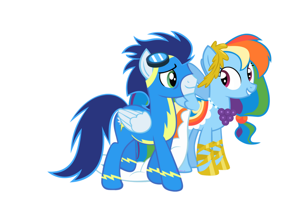 Rainbow Dash and Soarin After The Gala by 3D4D on DeviantArt