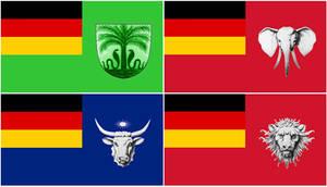 Alternate German Commonwealth of Africa Flags