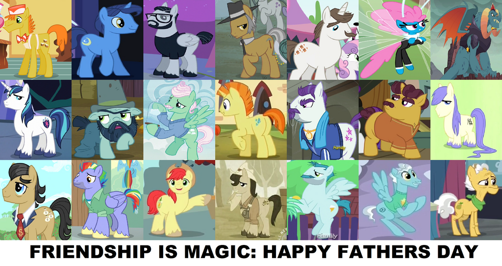 Mlp Fim Happy Fathers Day New Version By 3d4d On