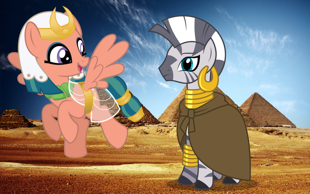 Somnambula and Zecora visit the Pyramids