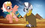 Somnambula and Zecora visit the Pyramids