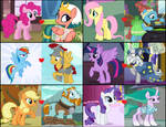 Mane Six x Equestria Pillars' Couples