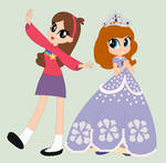 Mabel and Sofia (Equestria Girls Style) by 3D4D