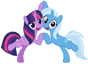 Twilight and Trixie (alternate version)