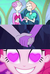 Pinkie Pie Ships Pearl X Pink Pearl