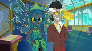 Discord and Chrysalis (Equestria Girls)