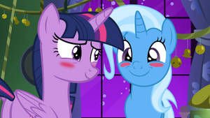 Twilight Being Complimented with Trixie
