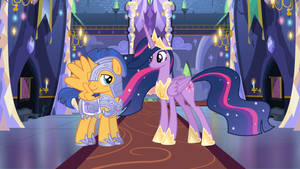 The Regent of Equestria and her Crystal Guard