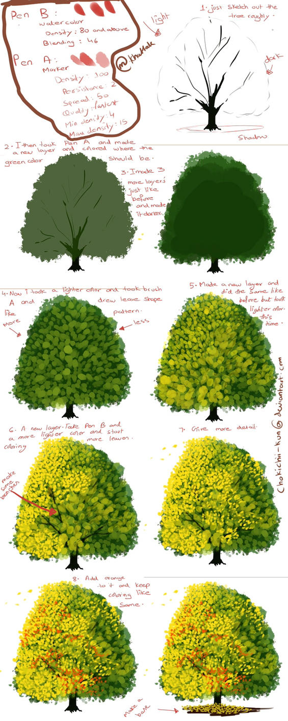 How to paint a tree digtally by mano k on deviantart for How to paint a tree