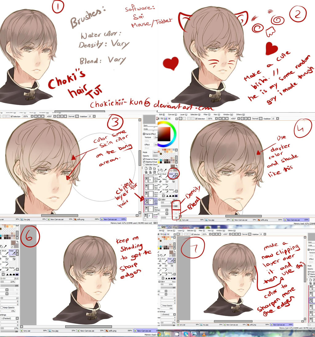 Anime Hair Tutorial By Mano K On Deviantart