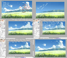 how to paint clouds digitally