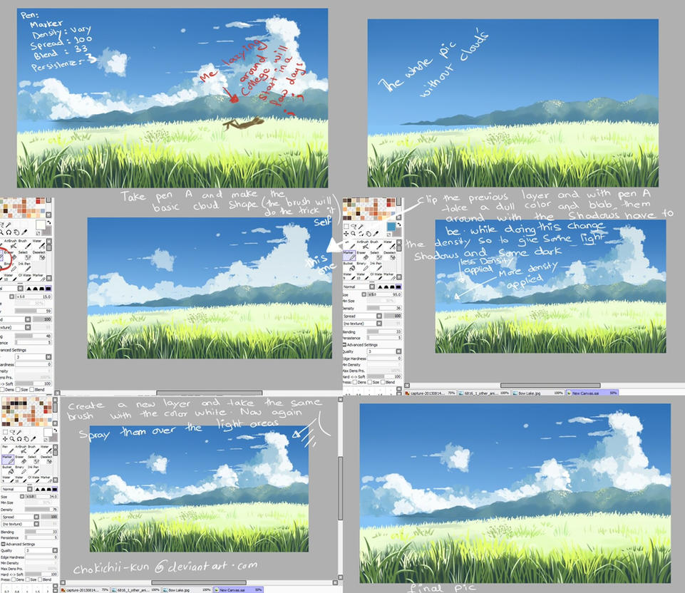 How to paint clouds digitally by mano k on deviantart
