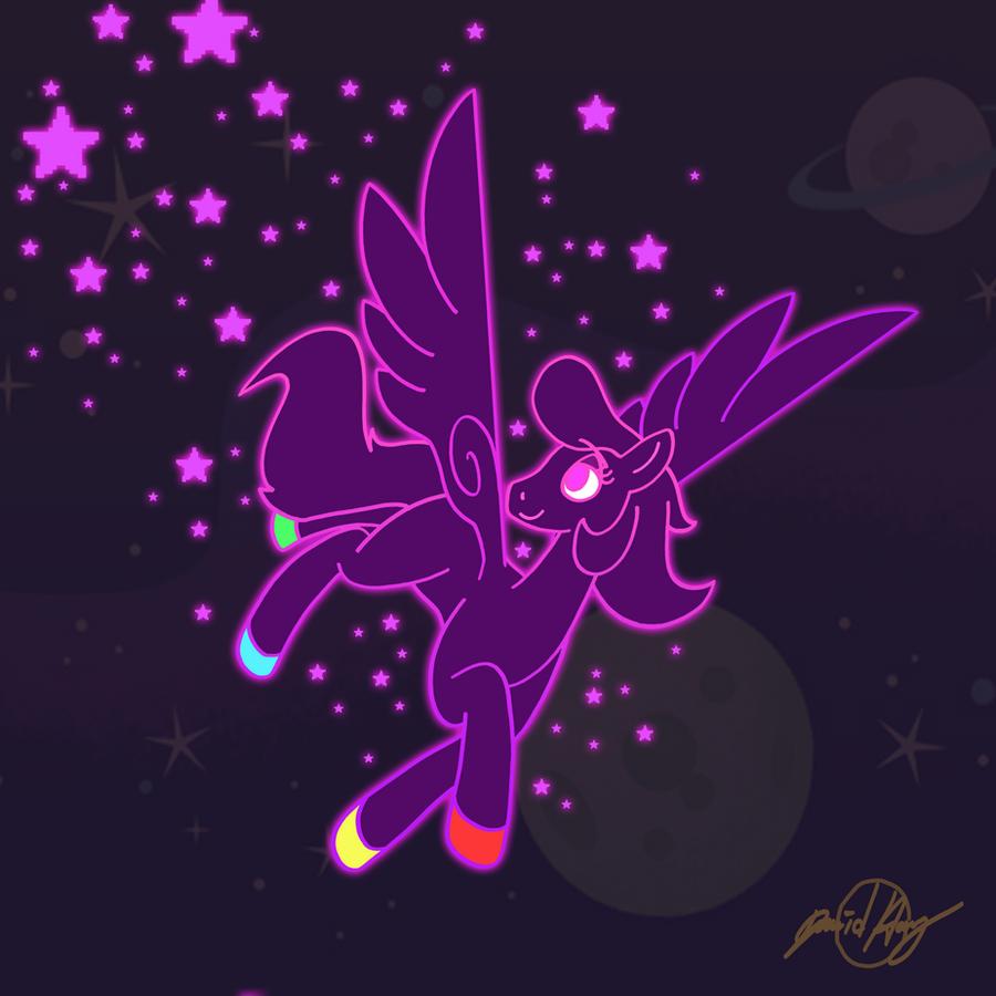 Neon Pegasus by CopyPastePony