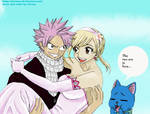 Natsu x Lucy (the wedding of fire and keys)