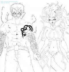 Mirajane Satan Soul Sitri x Laxus Thunder Dragon