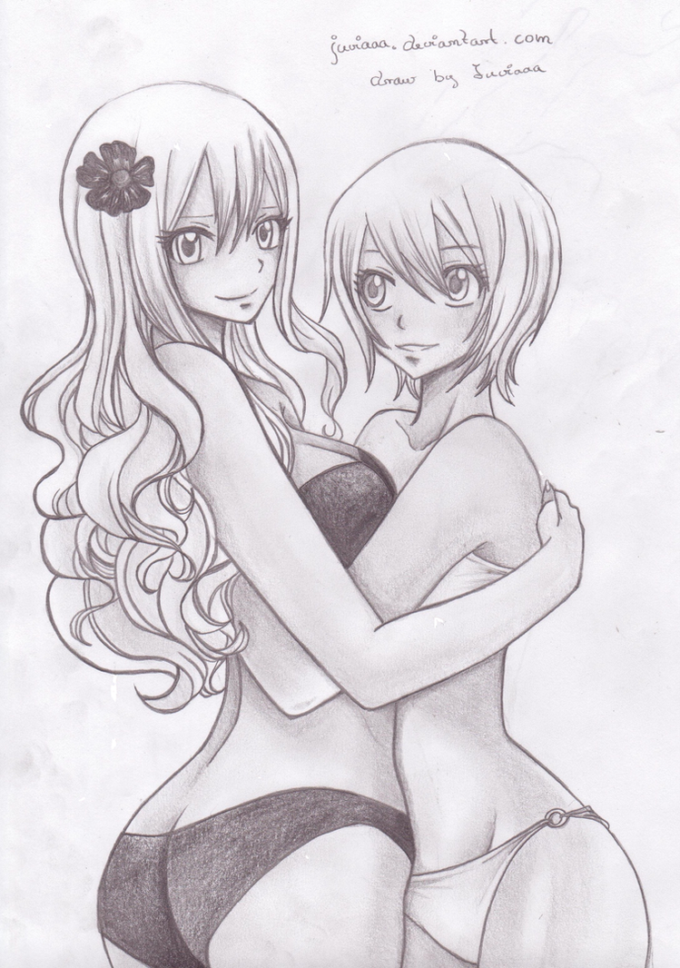 Mirajane and Lisanna by Juviaaa