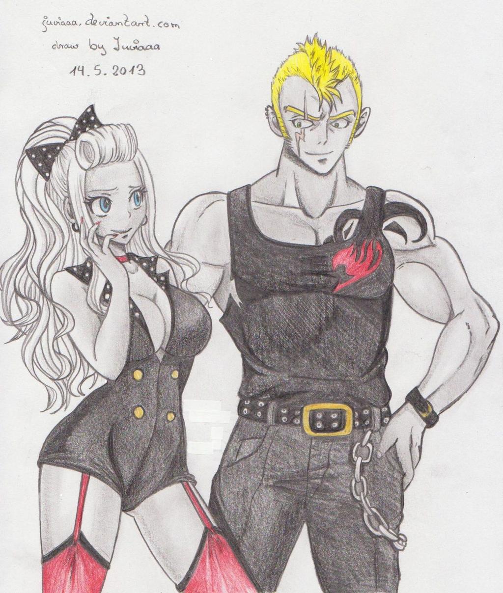 Laxus and Mira by mashara125 on DeviantArt