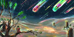 shooting stars by yakkingyetis