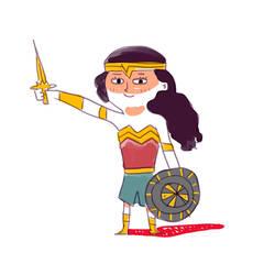 Wonder Woman by yakkingyetis
