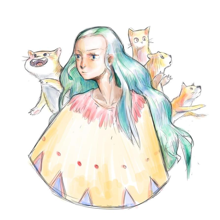 _cat lady_ by yakkingyetis