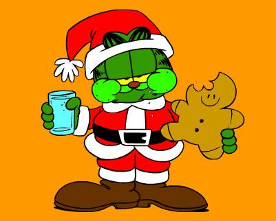 Garfield christmas cartoon pictures - Garfield noel ...