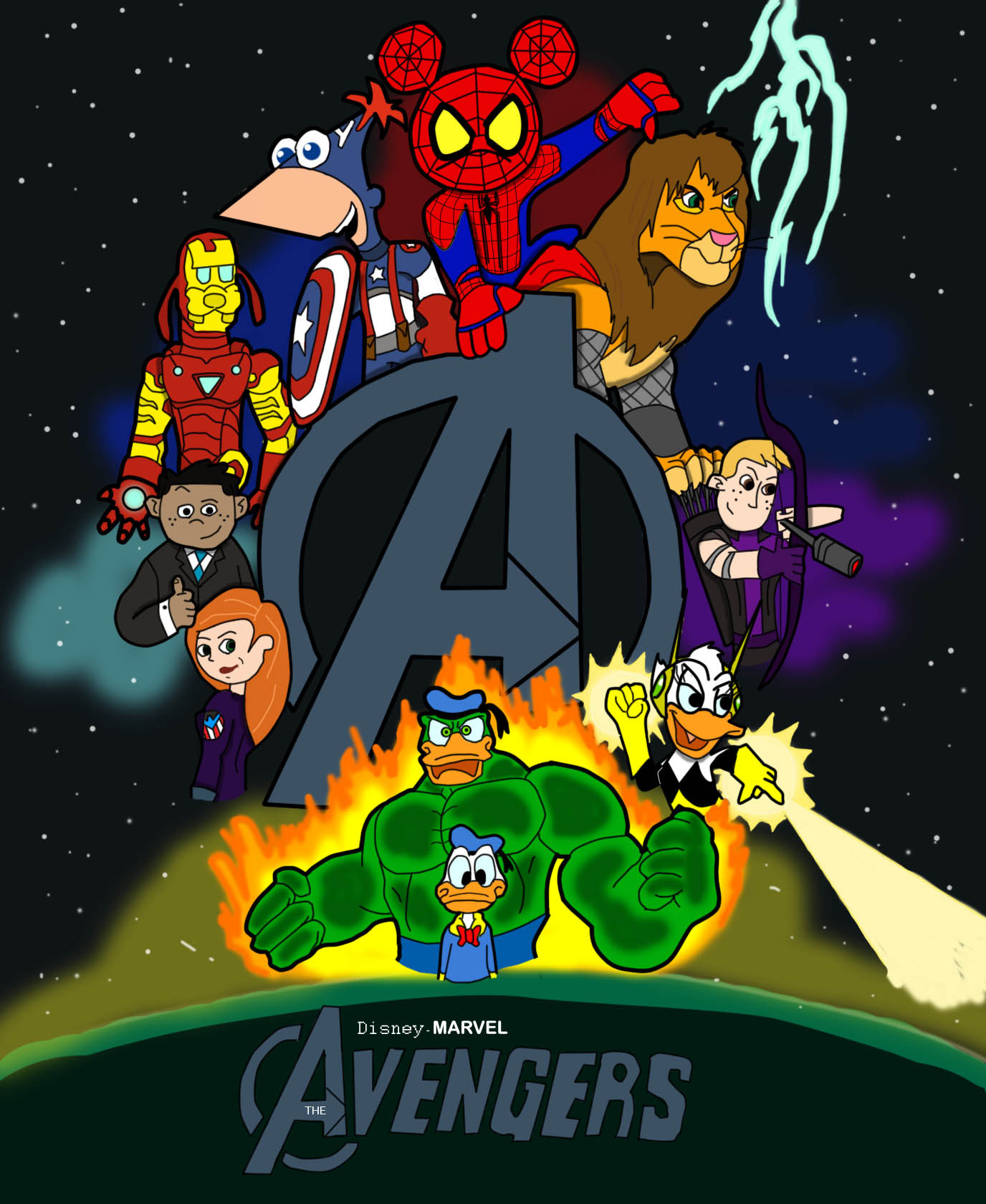 Disney-Marvel Avengers Poster by CK-was-HERE