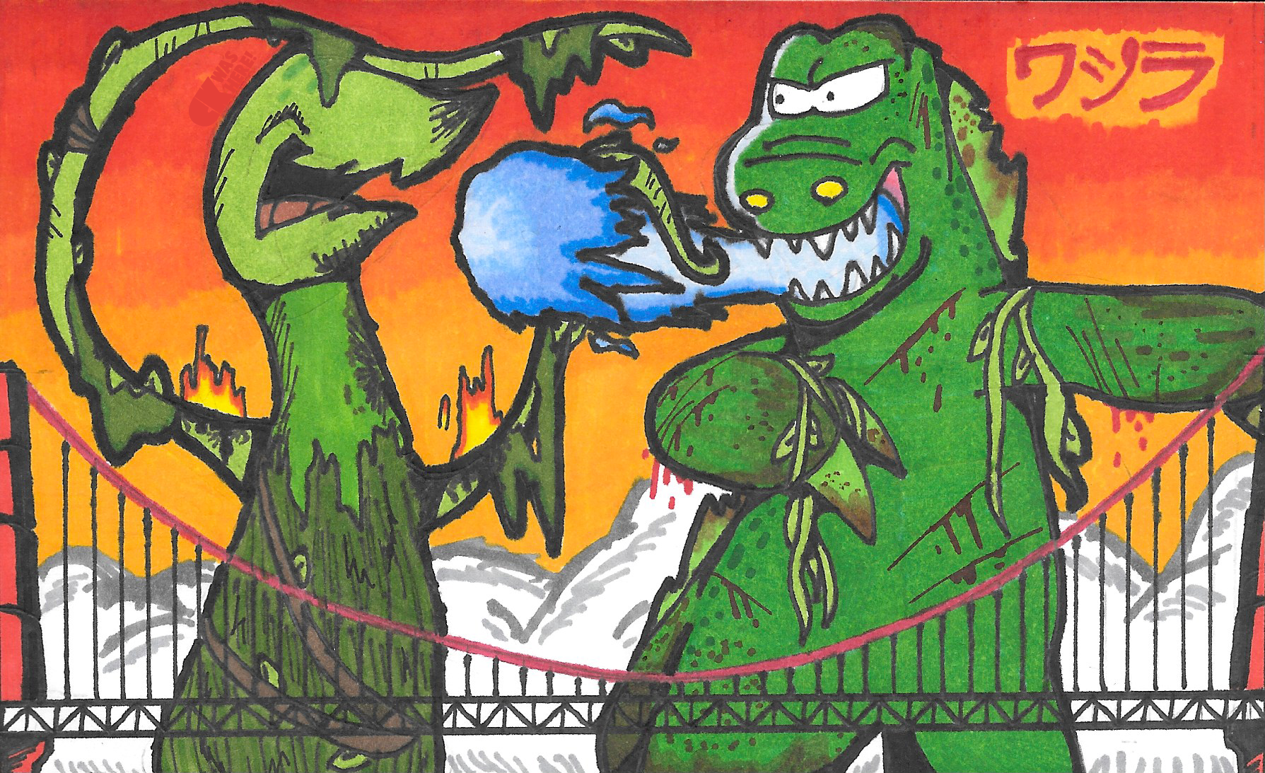 [DALEY DUDELZ] Croczilla v Weed Eater by CKToonStudios