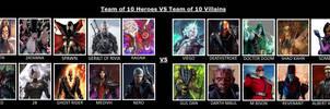 Crossover Heroes Team Vs Villains Team 3
