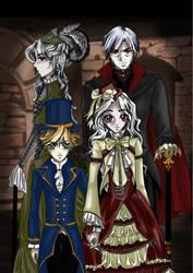 Ozoku Family and Akuma by yashasgirl