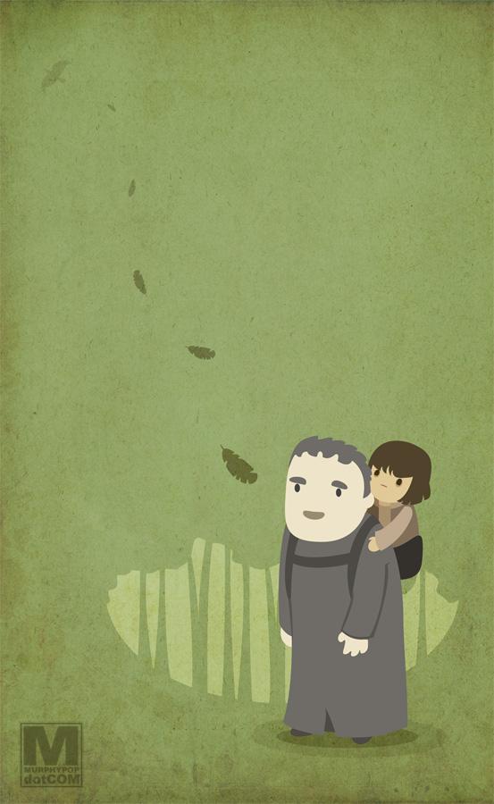 Hodor and Bran by MeghanMurphy