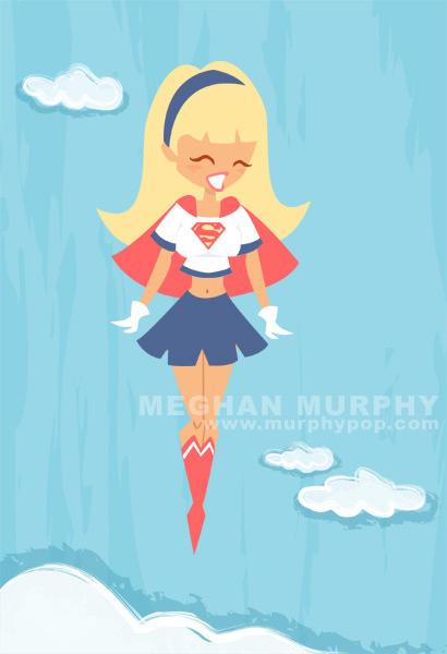 Supergirl in Flight by MeghanMurphy