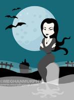Spooky Gals: Morticia by MeghanMurphy