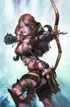 An archer lady of Pict tribe