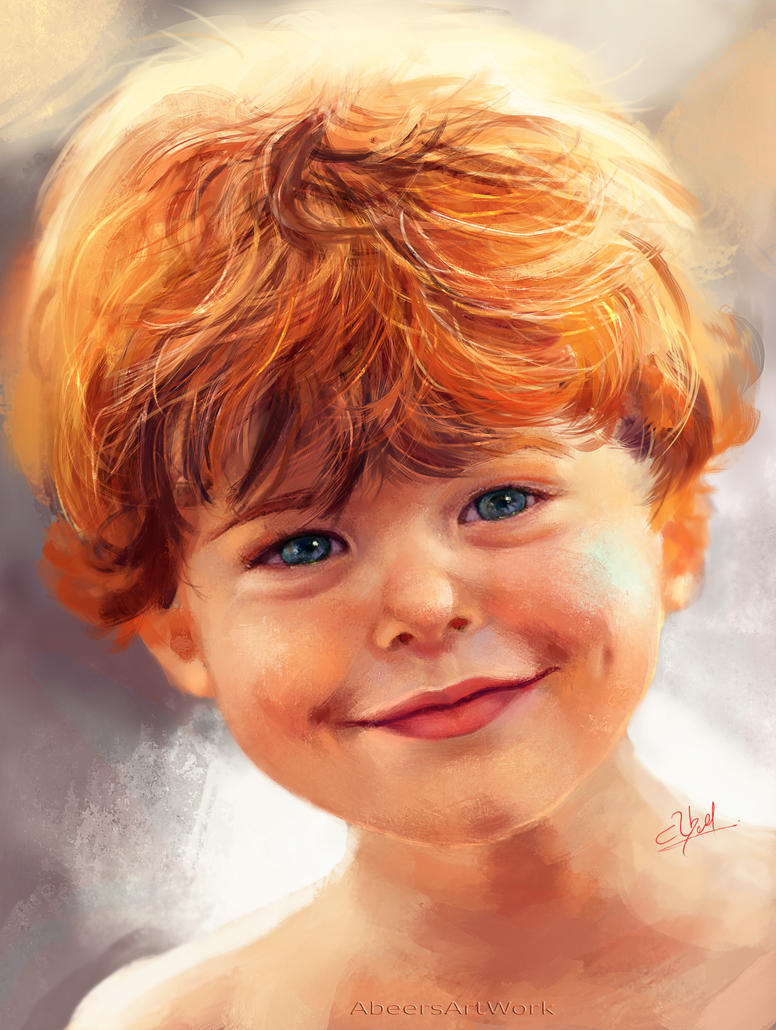 Little boy with red hair by abeermalik
