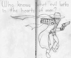 Who knows what evil lurks in the hearts of men? by LucidArtist83