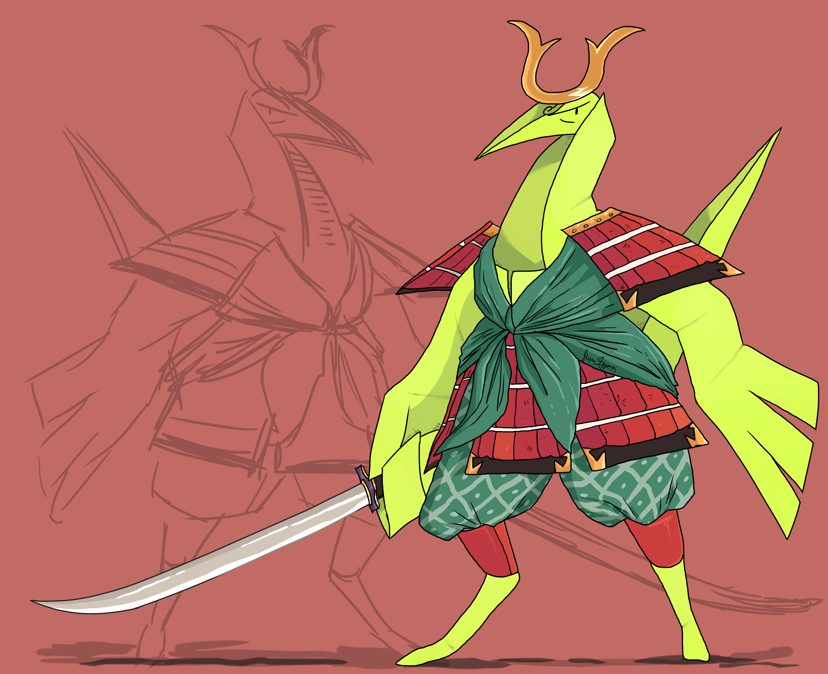 Samurai Crane by NewGlasses