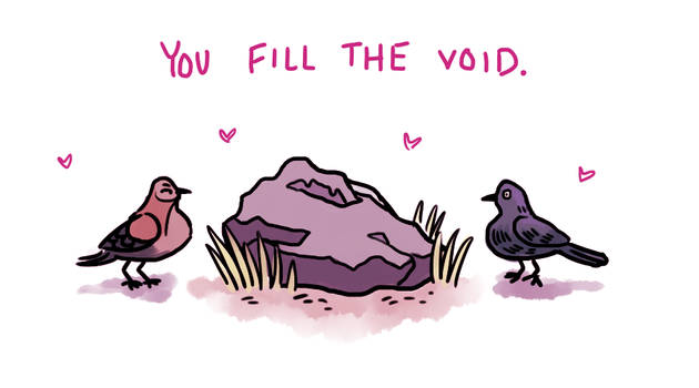 Bird And Boulder Valentine by Scheppen
