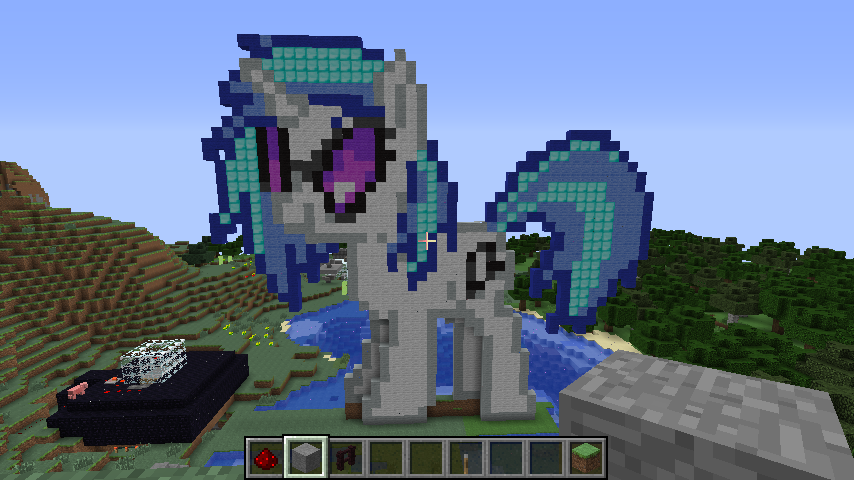 Minecraft Pixel Art - Vinyl Scratch by Blues27Xx