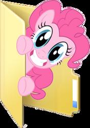 Custom Pinkie Pie folder icon by Blues27Xx