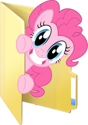 Custom Pinkie Pie folder icon by Blues27Xx