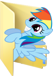 Custom Rainbow Dash folder icon