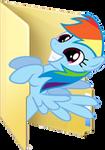 Custom Rainbow Dash folder icon