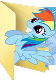 Custom Rainbow Dash folder icon by Blues27Xx