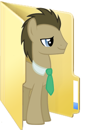 Custom Doctor Whooves folder icon
